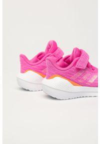 Różowe buty sportowe adidas Performance na rzepy, do biegania, z cholewką, z okrągłym noskiem #5