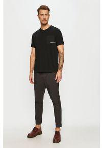 Czarny t-shirt AllSaints na co dzień, casualowy #5