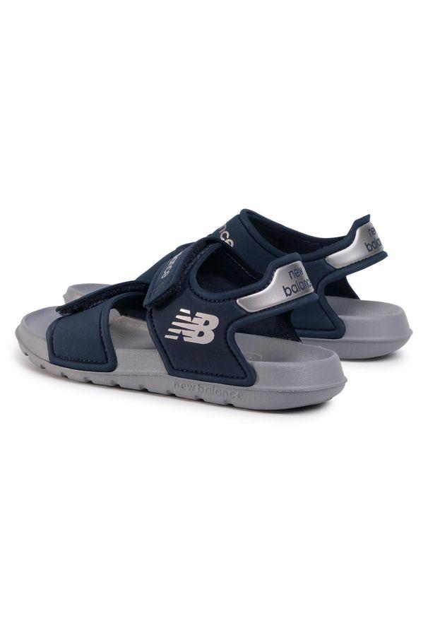Niebieskie sandały New Balance klasyczne, na lato