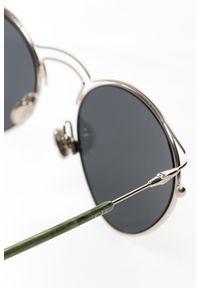 Szare okulary przeciwsłoneczne Dior