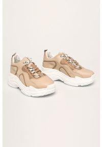 Różowe buty sportowe ANSWEAR na sznurówki, z cholewką