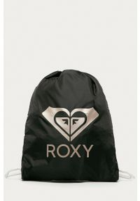 Roxy - Plecak. Kolor: czarny. Materiał: poliester. Wzór: nadruk