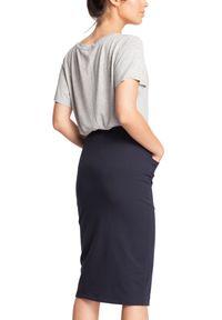 BE - Ołówkowa miękka sportowa spódnica z kieszeniami. Materiał: elastan, dzianina, materiał, bawełna. Styl: sportowy