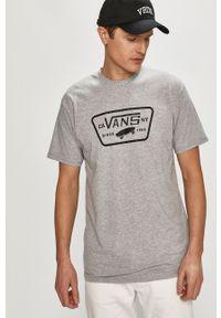 Szary t-shirt Vans na co dzień, z nadrukiem