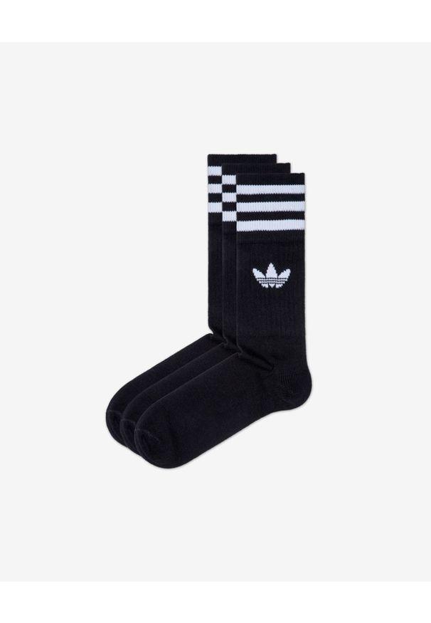 Czarne skarpetki adidas Originals w kolorowe wzory