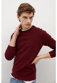 Czerwony sweter Mango Man z długim rękawem, na co dzień, długi