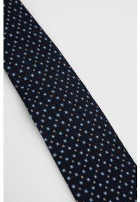 TIGER OF SWEDEN - Tiger Of Sweden - Krawat. Kolor: niebieski. Materiał: materiał