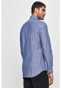 Niebieska koszula Tommy Hilfiger Tailored z klasycznym kołnierzykiem, na co dzień