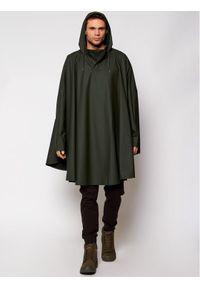 Rains Ponczo Unisex 1811 Zielony Loose Fit. Kolor: zielony #3
