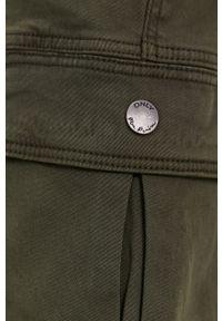 only - Only - Spodnie. Okazja: na co dzień. Kolor: zielony. Materiał: bawełna. Styl: casual
