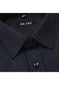 Czarna elegancka koszula Desire długa, z długim rękawem