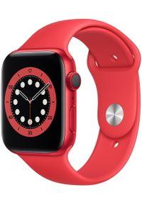 APPLE - Apple smartwatch Watch Series 6 Cellular, 44mm PRODUCT(RED) Aluminium Case with PRODUCT(RED) Sport Band. Rodzaj zegarka: smartwatch. Kolor: czerwony. Styl: sportowy