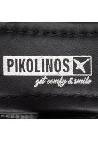 Czarne sandały Pikolinos na średnim obcasie, na obcasie, casualowe, na co dzień