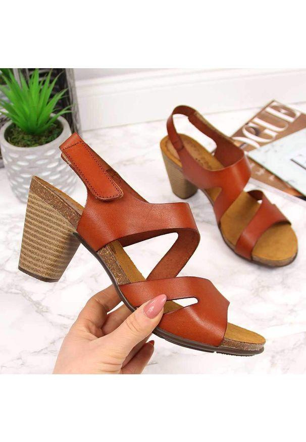 Brązowe sandały El Pimpi eleganckie
