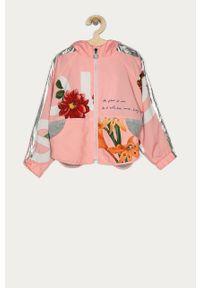 Różowa kurtka Desigual z kapturem