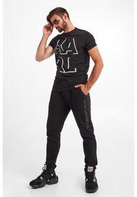 Karl Lagerfeld - T-SHIRT KARL LAGERFELD. Materiał: bawełna. Wzór: nadruk