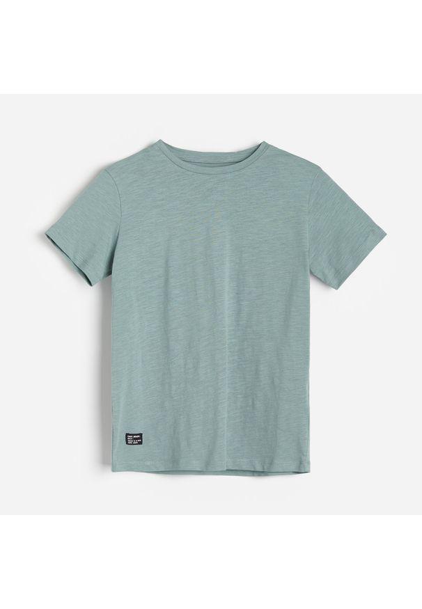 Turkusowy t-shirt Reserved