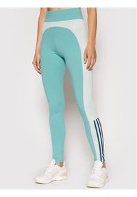 Adidas - adidas Legginsy W Cb GS6326 Niebieski Slim Fit. Kolor: niebieski