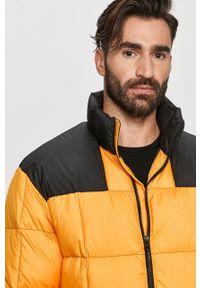 Żółta kurtka The North Face bez kaptura, casualowa, na co dzień