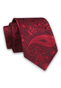 Alties - Czerwony Elegancki Męski Krawat -ALTIES- 7cm, Stylowy, Klasyczny, Wzór Paisley, Nerki, Łezki. Kolor: czerwony. Materiał: tkanina. Wzór: paisley. Styl: klasyczny, elegancki