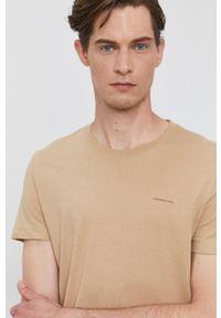 Calvin Klein Jeans - T-shirt (2-pack). Okazja: na co dzień. Kolor: beżowy. Materiał: dzianina. Wzór: gładki. Styl: casual