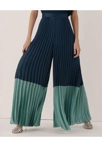 Marella - MARELLA - Granatowe spodnie kuloty Capo. Stan: podwyższony. Kolor: niebieski