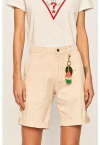 Kremowe szorty Guess Jeans na co dzień, casualowe