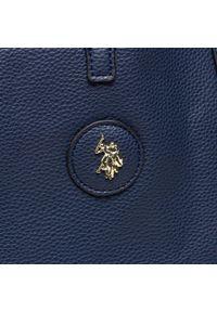 U.S. Polo Assn - Torebka U.S. POLO ASSN. - Malibu L Shopping BEUM15163WVG212 Navy. Kolor: wielokolorowy, niebieski, brązowy. Materiał: skórzane