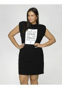 Madnezz - Sukienka T-shirt - Tequila and salt. Okazja: na imprezę. Materiał: elastan, wiskoza. Wzór: nadruk