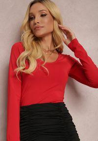 Renee - Czerwone Body Hephete. Kolor: czerwony. Materiał: dzianina