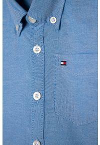 Niebieska koszula TOMMY HILFIGER długa, na co dzień