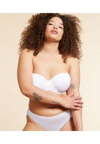 Biały biustonosz Etam do noszenia na różne sposoby