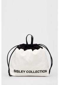 Sisley - Plecak. Kolor: biały. Wzór: nadruk