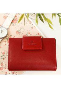 Krenig - Portfel skórzany damski KRENIG Classic 12013 czerwony w pudełku. Kolor: czerwony. Materiał: skóra