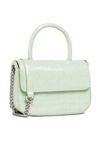 DeeZee - Torebka DEEZEE - RX5073 Green. Kolor: zielony. Wzór: aplikacja. Materiał: skórzane. Styl: klasyczny