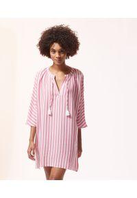 Różowa piżama Etam w paski