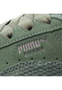 Zielone półbuty Puma z aplikacjami, z cholewką