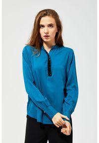 MOODO - Koszula z ozdobną lamówką. Materiał: wiskoza