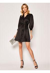 Czarna sukienka koszulowa The Kooples
