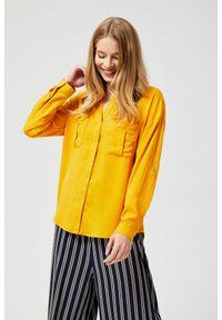 Żółta koszula MOODO długa, z długim rękawem