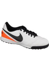 Białe buty do piłki nożnej Nike z cholewką, w kolorowe wzory