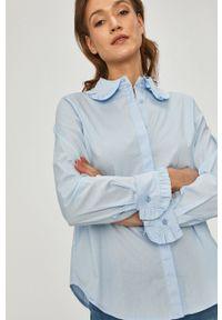 Answear Lab - Koszula. Okazja: na co dzień. Kolor: niebieski. Materiał: tkanina. Wzór: gładki. Styl: wakacyjny