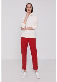 BOSS - Boss - Bluza. Okazja: na co dzień. Kolor: beżowy. Długość rękawa: długi rękaw. Długość: długie. Styl: casual