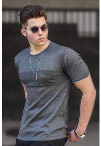 IVET - T-shirt męski DUNCAN GRAFIT. Okazja: na co dzień. Kolor: szary. Materiał: bawełna. Styl: casual