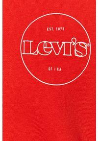 Czerwona bluza rozpinana Levi's® z nadrukiem, na spotkanie biznesowe #5