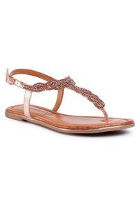 Złote sandały Salamander casualowe, na co dzień