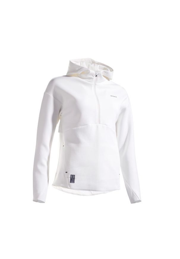 ARTENGO - Bluza tenis SW DRY 900 OFF damska. Kolor: biały. Materiał: tkanina, materiał. Sport: tenis