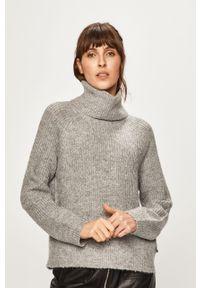 Szary sweter Roxy z golfem, raglanowy rękaw
