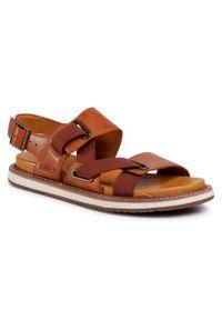 Brązowe sandały keen casualowe, na co dzień