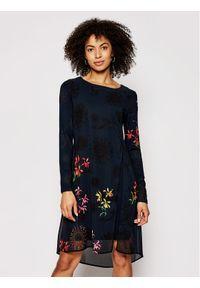 Czarna sukienka Desigual prosta, na co dzień, casualowa